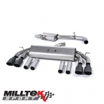 "Milltek Sport Audi S3 8V 2.0 TFSI Quattro Saloon (2013-) 3.00"" Non-Valved Cat Back Exhaust System (Resonated) - SSXAU544"