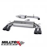 "Milltek Sport Audi S3 8V 2.0 TFSI Quattro Sportback (2013-) 3.00"" Non-Valved Cat Back Exhaust System (Resonated) - SSXAU549"