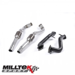 "Milltek Sport Audi RS6 C7 4.0 TFSI Bi-Turbo Quattro (2013-) 3.00"" Large Bore Downpipes With Sports Cats - SSXAU554"