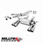 "Milltek Sport BMW 3 Series F80 M3 Saloon (2014-) 2.76"" Cat Back Exhaust System - SSXBM994"