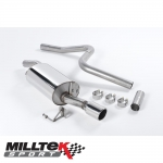 "Milltek Sport Ford Fiesta MK6 ST150 (2005-2008) 2.36"" Cat Back Exhaust System (Non-Resonated) - SSXFD018"