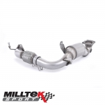 """Milltek Sport Ford Fiesta MK7 1.0 Turbo EcoBoost 100/125/140PS (2013-) 2.37"""" Large Bore Downpipe With Sports Cat - SSXFD102"""