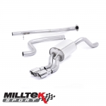 """Milltek Sport Ford Fiesta MK7 1.0 Turbo EcoBoost 100/125/140PS (2013-) 2.37"""" Cat Back Exhaust System (Non-Resonated) - SSXFD109"""