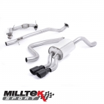 """Milltek Sport Ford Fiesta MK7 1.0 Turbo EcoBoost 100/125/140PS (2013-) 2.37"""" Turbo Back Exhaust System Including De-Cat (Non-Resonated) - SSXFD140"""