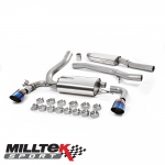"Milltek Sport Ford Focus MK3 RS 2.3 Turbo EcoBoost 4WD 4 Door Hatchback (2016-) 3.00"" Cat Back Exhaust System (Resonated) - SSXFD187"