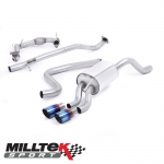 """Milltek Sport Ford Fiesta MK7 1.0 Turbo EcoBoost 100/125/140PS (2013-) 2.37"""" Turbo Back Exhaust System Including De-Cat (Non-Resonated) - SSXFD216"""