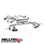 "Milltek Sport Honda Civic FK2 Type R 2.0i Turbo VTEC LHD Models (2015-) 3.00"" Cat Back Exhaust System - SSXHO222"