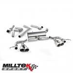 "Milltek Sport Honda Civic FK2 Type R 2.0i Turbo VTEC LHD Models (2015-) 3.00"" Cat Back Exhaust System (Road+) - SSXHO228"
