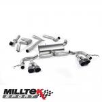 "Milltek Sport Honda Civic FK2 Type R 2.0i Turbo VTEC RHD Models (2015-) 3.00"" Cat Back Exhaust System (Road+) - SSXHO217"