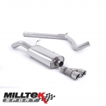 "Milltek Sport Audi A1 8X S Line 1.4 TFSI 150PS ACT (2015-) 2.76"" Cat Back Exhaust System (Non-Resonated) - SSXVW155"