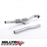 """Milltek Sport Volkswagen Golf MK6 R 2.0 TSI 270PS (2009-2013) 3.00"""" Large Bore Downpipe With HJS HQ Sports Cat - SSXAU200"""