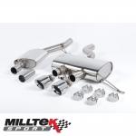 "Milltek Sport Volkswagen Golf MK6 R 2.0 TSI 270PS (2009-2013) 2.75"" Cat Back Exhaust System (Resonated) - SSXVW163"