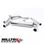 "Milltek Sport Volkswagen Golf MK7 GTI Incl. Clubsport, Clubsport S & Performance Pack Models 2.0 TSI (2013-) 3.00"" Cat Back Exhaust System (Resonated) - SSXVW225"