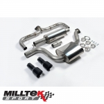 "Milltek Sport Volkswagen Golf MK7 GTI Incl. Clubsport, Clubsport S & Performance Pack Models 2.0 TSI (2013-) 3.00"" Cat Back Exhaust System (Non-Resonated) - SSXVW229"