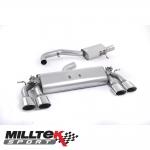 "Milltek Sport Volkswagen Golf MK7 R 2.0 TSI 300PS (2014-) 3.00"" Cat Back Exhaust System (Resonated) - SSXVW257"