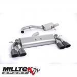 "Milltek Sport Volkswagen Golf MK7 R 2.0 TSI 300PS (2014-) 3.00"" Cat Back Exhaust System (Resonated) - SSXVW258"