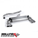"Milltek Sport Volkswagen Golf MK7 R 2.0 TSI 300PS (2014-) 3.00"" Cat Back Exhaust System (Non-Resonated) - SSXVW259"