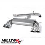 "Milltek Sport Volkswagen Golf MK7 R 2.0 TSI 300PS (2014-) 3.00"" Non-Valved Cat Back Exhaust System (Non-Resonated) - SSXVW307"