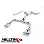 "Milltek Sport Volkswagen Golf MK7 GTI Incl. Clubsport, Clubsport S & Performance Pack Models 2.0 TSI (2013-) 3.00"" Cat Back Exhaust System (Non-Resonated) (Golf R Style) - SSXVW327"