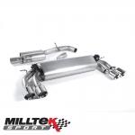 "Milltek Sport Volkswagen Golf MK7 R 2.0 TSI 300PS (2014-) 3.00"" Cat Back Exhaust System (Resonated) - SSXVW399"