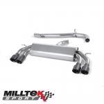 "Milltek Sport Volkswagen Golf MK7 R 2.0 TSI 300PS (2014-) 3.00"" Non-Valved Cat Back Exhaust System (Non-Resonated) - SSXVW407"