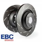 EBC Brakes Audi A1 8X 1.0 TFSI 95 BHP (2015-) USR Series Fine Slotted Brake Discs (Front) - ATE Caliper - 288mm Disc - USR818