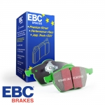 EBC Brakes Audi A1 8X 1.0 TFSI 95 BHP (2015-) Greenstuff Brake Pads (Rear) - Girling/TRW Caliper - 233mm Disc - DP2680