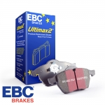 EBC Brakes Audi A1 8X 1.4 TFSI 122 BHP (2014-) Ultimax Brake Pads (Rear) - Girling/TRW Caliper - 233mm Disc - DP680