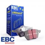 EBC Brakes Audi A1 8X 1.4 TFSI 140 BHP (2012-2014) Ultimax Brake Pads (Front) - VW Caliper - 256mm Disc - DP1329