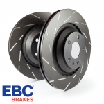 EBC Brakes Vauxhall Corsa D VXR 1.6 Turbo (2006-2014) USR Series Fine Slotted Brake Discs (Front) - ATE Caliper - 308mm Disc - USR1070