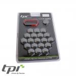 TPI Wheel Bolt/Nut Covers - Black Chrome - 17mm - WNC17BCHTX20