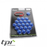 TPI Wheel Bolt/Nut Covers - Blue - 19mm - WNC19BLTX20