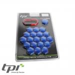 TPI Wheel Bolt/Nut Covers - Blue - 19mm - WNC19BLTX20