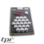 TPI Wheel Bolt/Nut Covers - Chrome - 17mm - WNC17CHRTX20