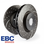 EBC Brakes Volkswagen Golf MK4 1.8 Turbo (1999-2005) 3GD Series Dimpled & Slotted Brake Discs (Rear) - Girling/TRW Caliper - 233mm Disc - GD816