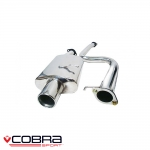 "Cobra Sport Ford Fiesta MK6 ST150 (2005-2007) 2.25"" Cat Back Exhaust System (Non-Resonated) - FD18"