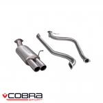 "Cobra Sport Ford Fiesta MK7 1.0 Turbo EcoBoost Zetec (2013-) 2.50"" Cat Back Exhaust System (Non-Resonated) - FD73"