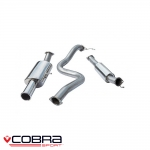 "Cobra Sport Ford Fiesta MK7 ST180 1.6 Turbo EcoBoost (2013-) 3.00"" Cat Back Exhaust System (Resonated) - FD78TP10"
