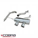 "Cobra Sport Volkswagen Golf MK6 R 2.0 TSI (2009-2013) 3.00"" Turbo Back Exhaust System (De-Cat/Non-Resonated) - VW27d"