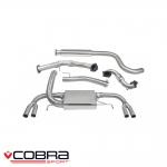 "Cobra Sport Vauxhall Astra J VXR 2.0 Turbo (2012-) 3.00"" Turbo Back Exhaust System (Sports Cat/Resonated) - VX25aTP28"