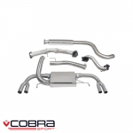 "Cobra Sport Vauxhall Astra J VXR 2.0 Turbo (2012-) 3.00"" Turbo Back Exhaust System (De-Cat/Resonated) - VX25cTP28"