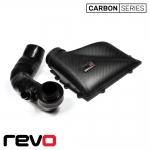 Revo Seat Leon 5F Cupra/Cupra R 2.0 TSI (2013-) Carbon Series Airbox Lid & Turbo Inlet Hose Kit - RV581M200600